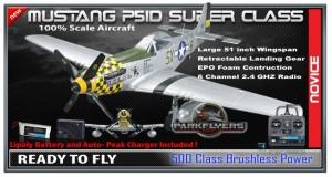 Parkflyers p51-d super class RC Plane