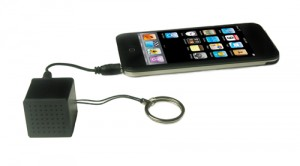 iPod iPhone external speaker keychain