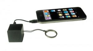 iPod iPhone external speaker keychain