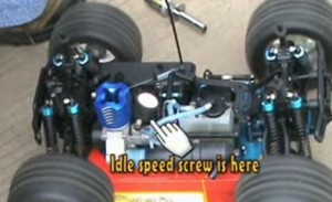 Idle speed screw on redcat racing nitro RC truck