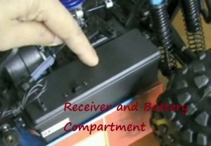 Redcat Racing Receiver and battery compartment