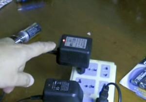 Redcat Racing glow plug igniter charging with light