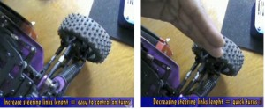 increasing and steering length on RC car