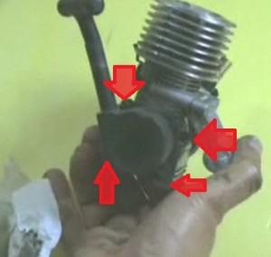 replacing nitro engine pull start 4 screws