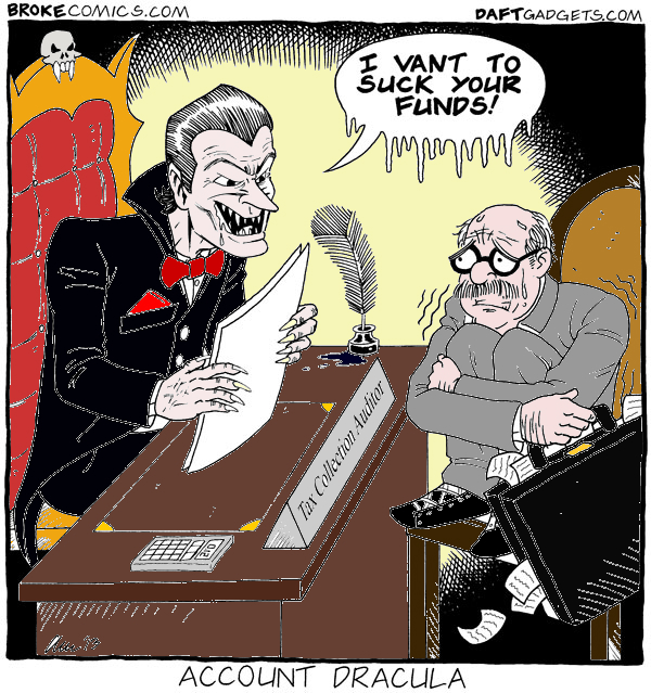 Account Dracula Tax Man Comic